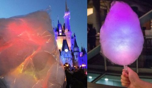 Electric Light Up Cotton Candy Makes The Magic Kingdom