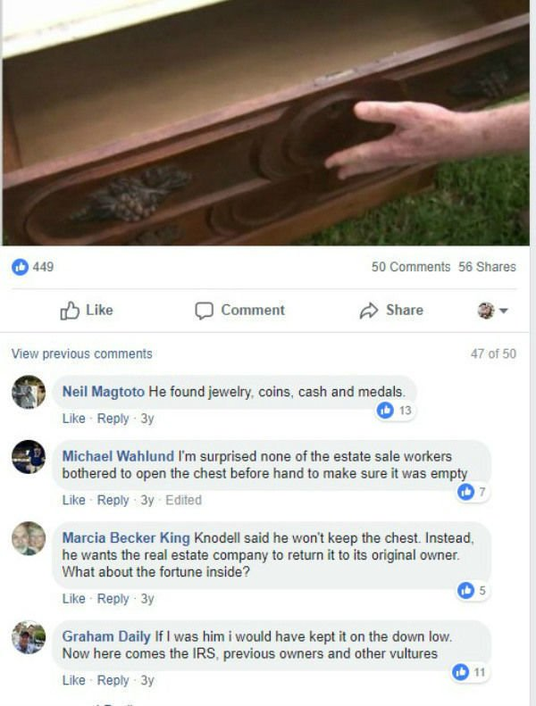 Man Buys an Old Dresser at a Yard Sale for $100 - Finds a Secret Drawer with Treasure Inside